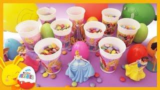 Anniversaire avec les princesses Disney - Bonbons, ballons, oeufs surprises - Touni Toys