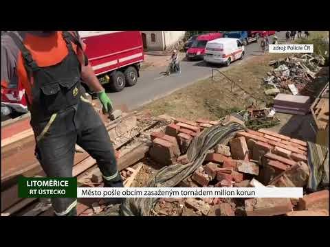 Město pošle obcím zasaženým tornádem milion korun