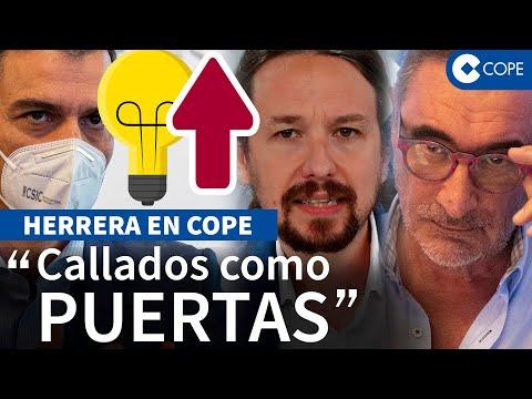 Herrera saca la hemeroteca y retrata a Iglesias, Sánchez y Garzón con la subida de la luz