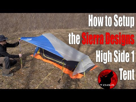 Before You Buy - How to Setup the Sierra Designs High Side 1 Tent