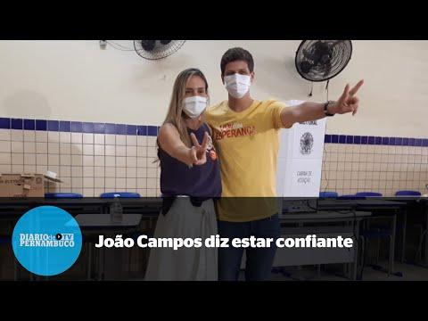 Apesar de empate em pesquisas, João Campos confia em vitória
