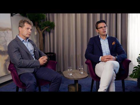 Henrik Blomé och Björn Wulff i samtal om framtiden för Briab med Alder som ny aktiv huvudägare.