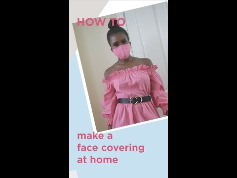 riverisland.com & River Island voucher code video: HOW TO MAKE A FACE COVERING // Islanders At Home // River Island