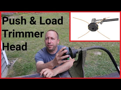 Shakespere Push and Load Trimmer Head Overview and Quick Demo