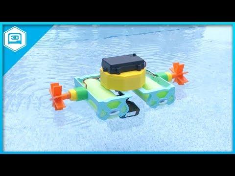 Crickit Paddle Wheel Boat #3DPrinting @adafruit #adafruit