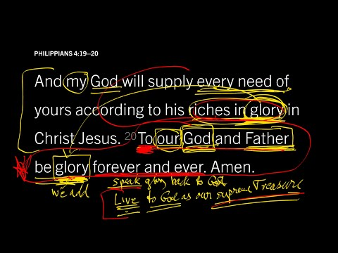 Philippians 4:20 // Joining the Great Goal of the Universe