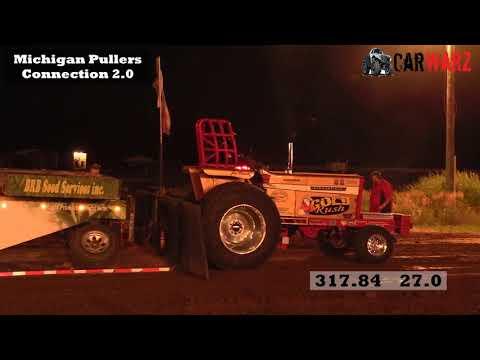 Super Farm Tractor Class At WMP Tractor Pulls In Mt Pleasant Michigan 2018