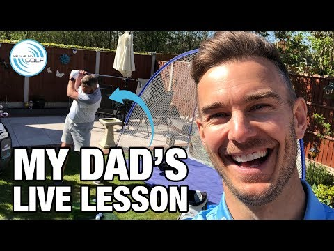 I gave my DAD a GOLF LESSON | ME AND MY GOLF