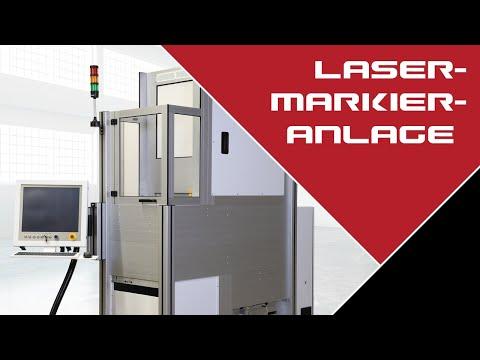 Automatisierte Lasermarkieranlage nach Kundenvorgabe.