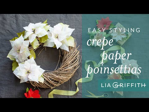 How to Decorate for the Holidays with Paper Poinsettias