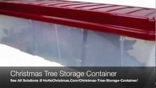 Plastic Artificial Christmas Tree Storage Container Box and