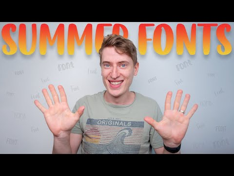 BEST Print on Demand Fonts This Summer!