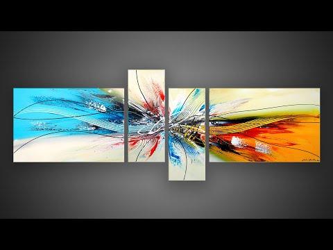 Démonstration PEINTURE ABSTRAITE à l'acrylique | Avia