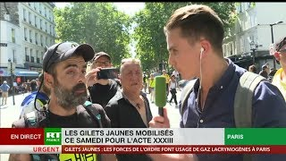 Acte 33 : Jérôme Rodrigues alerte l'opinion publique sur la répression des Gilets jaunes