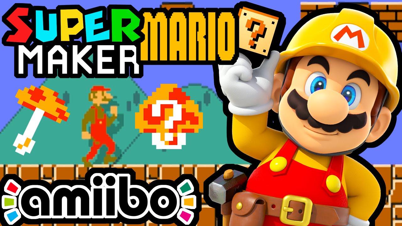Super Mario Maker Part 1 Gameplay Walkthrough Bowser Jr Amiibo
