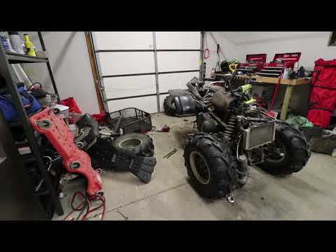 Fixing Grandpa's 4wheeler. After the crash. Tearing it down and seeing where the damage is.