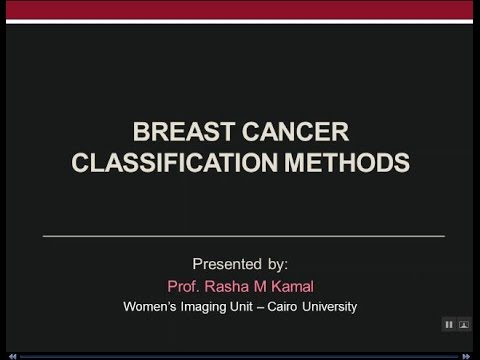 Breast Cancer Classification Methods - Prof Dr. Rasha Kamal (In Arabic)