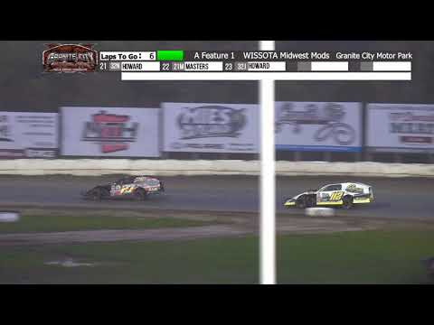 Granite City Motor Park 10/3/21 WISSOTA Midwest Modified Highlights - dirt track racing video image