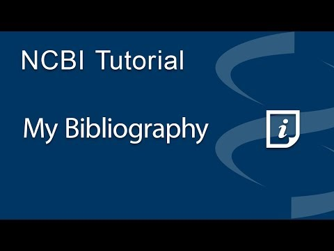 VIDEO: My Bibliography