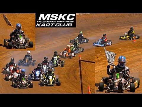 Standard Karts Final Laang Speedway 14-1-2018 - dirt track racing video image