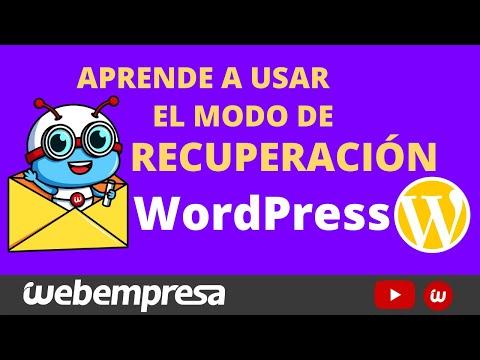 Recupera tu sitio web con el Modo de Recuperación en WordPress ¿CÓMO USARLO?