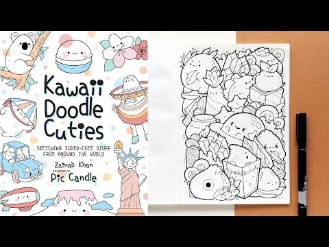 New Book Coming Soon [Kawaii Doodle Cuties] & Doodling a cute little page