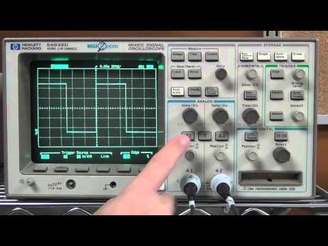 Digital Oscilloscope Set Up And Tutorial Using HP 54645D Storage
