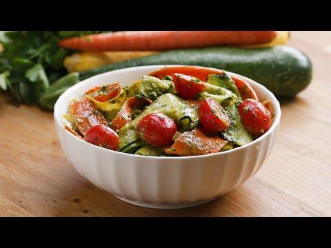 Summer Vegetable Pesto Ribbon Salad