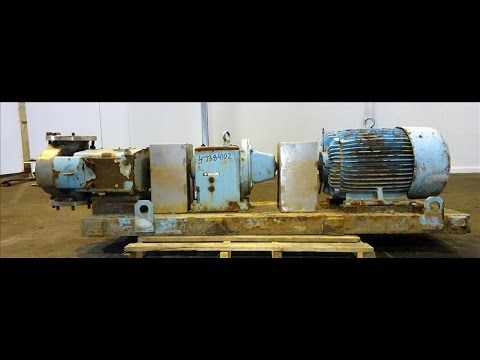 Used- Waukesha Rotary Positive Displacement Pump, Model 320 - stock # 47384102