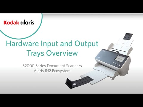 Kodak S2000 Series Hardware input-output trays overview Preview