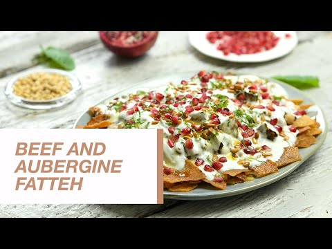 Beef and Aubergine Fatteh | Food Channel L Recipes