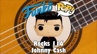 Johnny Cash with Guitar Behind his Back Funko Pop unboxing (Rocks 116)
