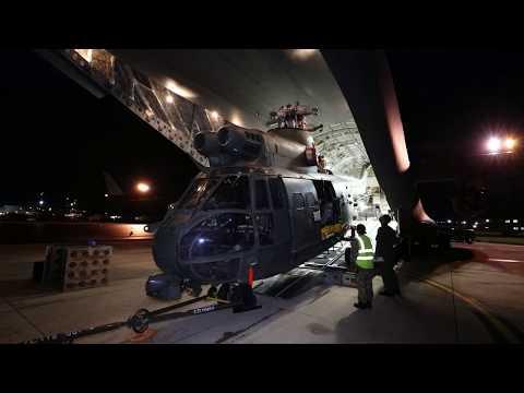 RAF Puma loading onto C17