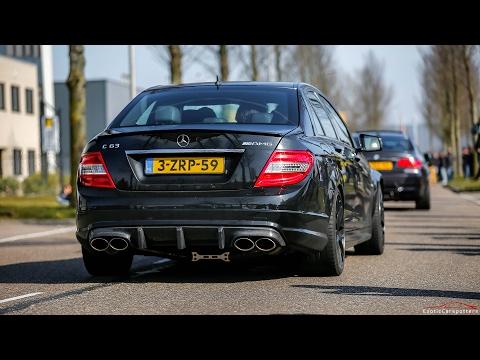 LOUD Mercedes C63 AMG w/ iPE Exhaust - Burnouts, Revs