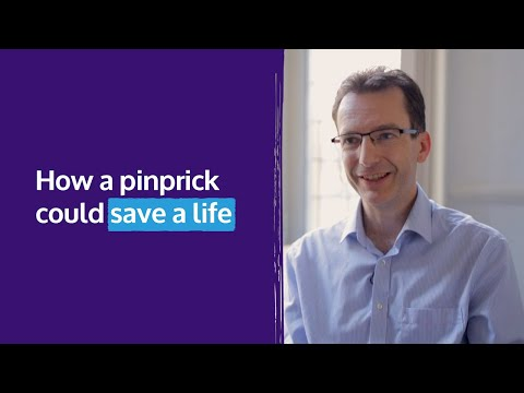 How a pinprick could save a life