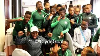 Bantwana celebrate Banyana win over Nigeria