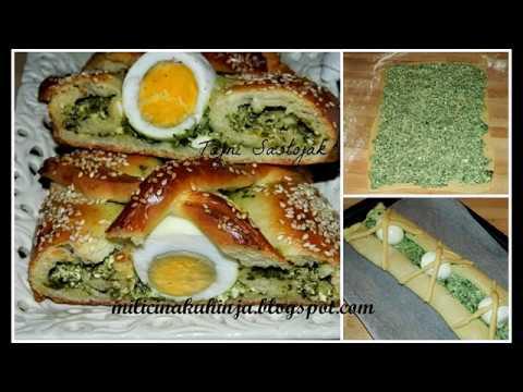 Dedin brk sa spanacem - Fancy bread with spinach