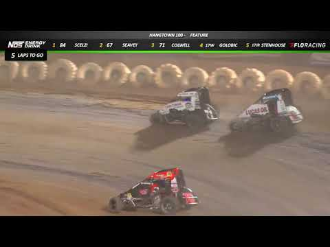 """Highlights: Gio Scelzi delivers for night one of the """"Hangtown 100"""" at Placerville Speedway for the USAC NOS Energy Drink National & Western States Midgets.  Watch the full event and more on FloRacing.com. - dirt track racing video image"""