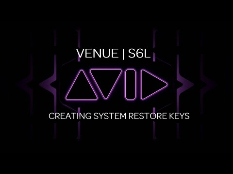 VENUE | S6L Creating a System Restore Key