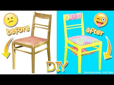 DIY Chair Makeover – How To Make Awesome New Chair of Old One (From Old To New Upcycling Tutorial)