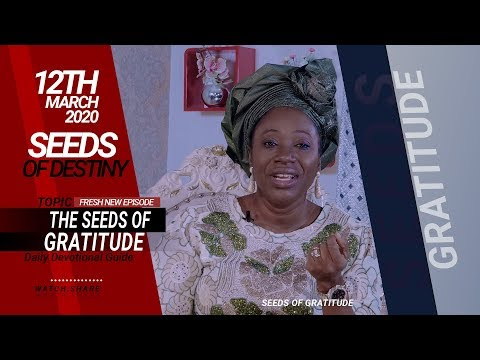 Dr Becky Paul-Enenche - SEEDS OF DESTINY - THURSDAY, 12 MARCH, 2020
