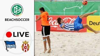 LIVE 🔴 Hertha BSC - Beach Royals Düsseldorf | Semi-Final - German Beach Soccer League | Final Four