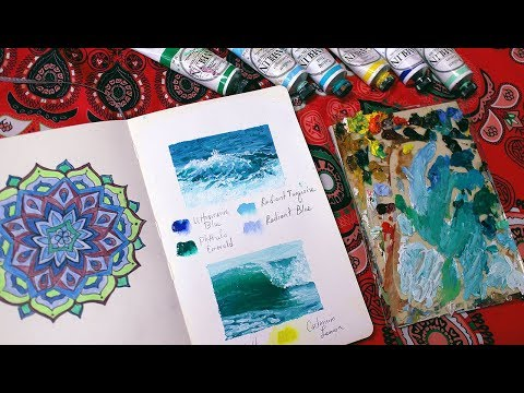 Art ♡ Quick wave sketches | Sketchbook Sunday #44