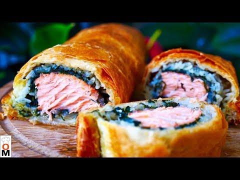 Пирог с Красной Рыбой, Хрустящий Сверху и Сочный Внутри. Нереально Вкусно!!!