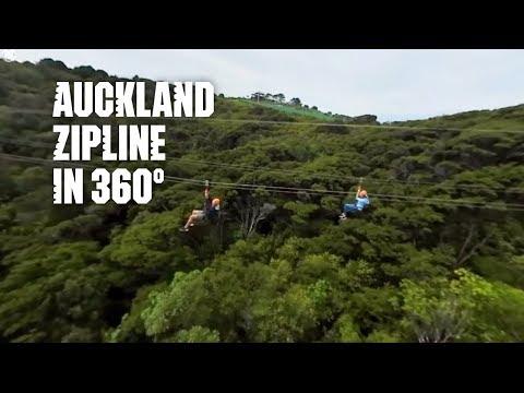 Zipline in 360 – Auckland, New Zealand