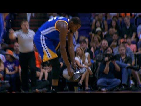Kevin Durant Loses Sneaker, Knocks Down Jumper