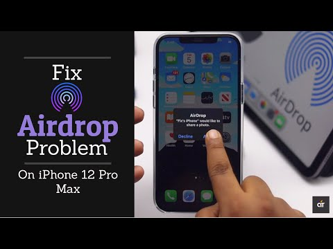 Fix AirDrop Not Working on iPhone 12 Pro Max 2021 (iOS 14)