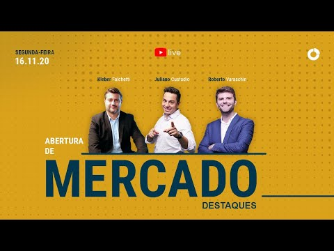 Destaques da Live: Abertura de Mercado - SEG 16/11