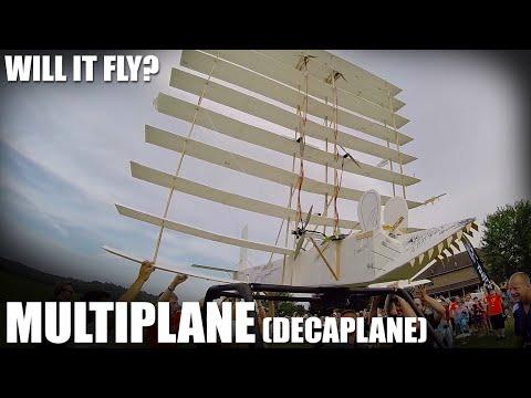 Flite Test | Will it Fly? - Multiplane (Decaplane) - UC9zTuyWffK9ckEz1216noAw