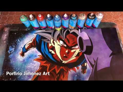 Goku vs Jiren Spray Paint Art Stencil - UCsvgoi3v6zshIIscDDXL2Hg
